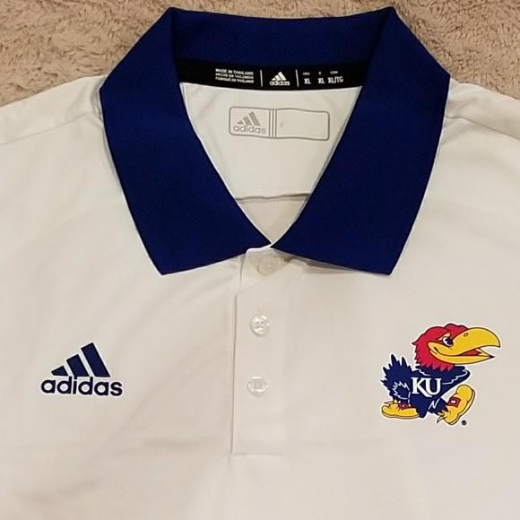 Adidas shirts hombre  XL Universidad de Kansas poshmark Polo NWT